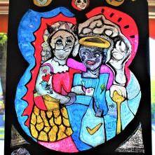 Zweitstimme (2017), Acrylfarbe auf Plexiglas, 78 x 140 cm.