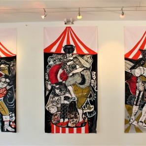 Le Cirque du Sado (2018), je ca. 100 x 150 cm.