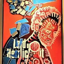 Gelobt sei Gott (2020), Acrylfarbe und Plastikcollage auf Kinobanner, ca. 110 x 200 cm. 1550, - € I Ausleihe bzw. Ratenzahlung für 155,-€ pro Monat.