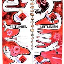 """""""Hängekommission"""" (2020), Acrylfarbe und Collage auf Aluminiumplatten, ca. 85 x 175cm. 1.560 € I Ausleihe bzw. Ratenzahlung für 156,-€ pro Monat."""