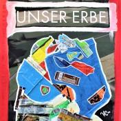 Unser Erbe (2020) Acrylbemaltes und collagiertes Kinoposter auf Holzplatte, ca. 88,5 x 64 cm. 763, - € I Ausleihe bzw. Ratenzahlung für 76,-€ pro Monat.